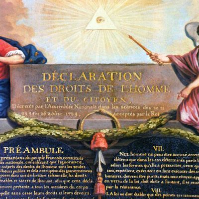 26th August 1789: Adoption of the Declaration of the Rights of Man in France