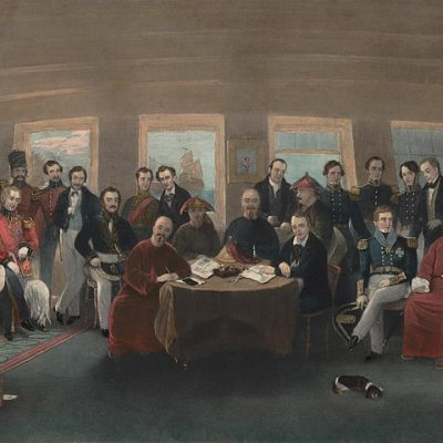 29th August 1842: The First Opium War ends when Britain and China sign the Treaty of Nanking