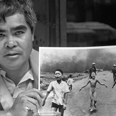 8th June 1972: Nick Ut takes his harrowing photo of Vietnamese girl, Phan Thị Kim Phúc, running from napalm