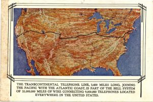 Transcontinental telephone line