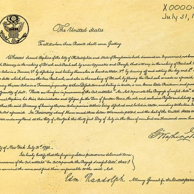 31st July 1790: The first U.S. patent was awarded to Samuel Hopkins