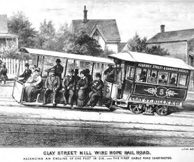 2nd August 1873: The Clay Street Hill Railroad becomes San Francisco's first cable car