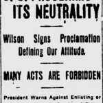 US Neutrality in WW1