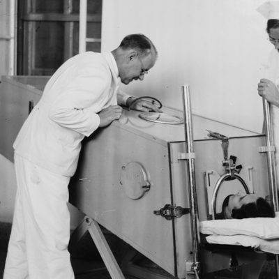 12th October 1928: 'Iron lung' respirator used for the first time