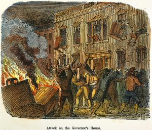 Stamp Act riot in Boston
