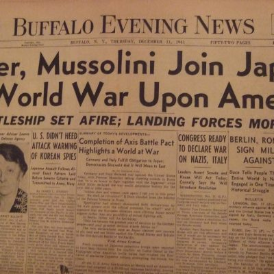 11th December 1941: Nazi Germany declares war on the USA