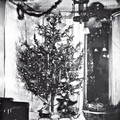 22nd December 1882: The first use of electric lights on a Christmas tree