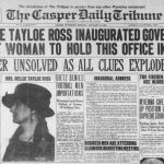 Nellie Tayloe Ross inauguration newspaper
