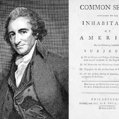 10th January 1776: Thomas Paine publishes the pamphlet Common Sense advocating American independence