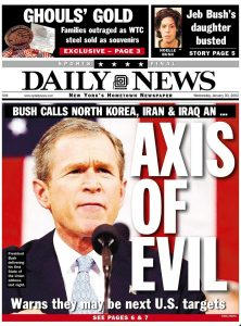 Axis of Evil front page