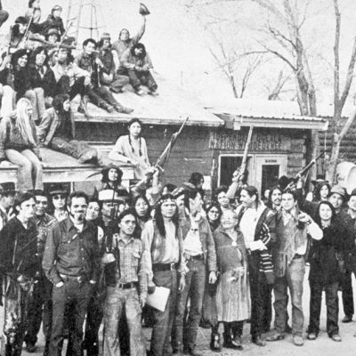 27th February 1973: Oglala Lakota and members of the American Indian Movement occupied Wounded Knee