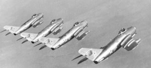 MiG-15s in formation