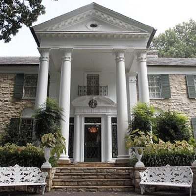 7th June 1982: Elvis Presley's Graceland estate in Memphis, Tennessee, was opened to the public