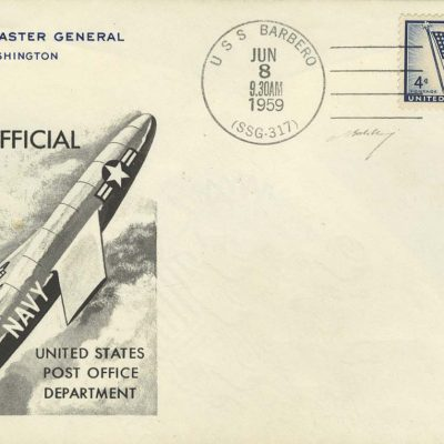 8th June 1959: The world's only delivery of 'Missile Mail' took place when the United States Post Office Department sent 3,000 letters using a cruise missile