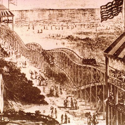 16th June 1884: The Switchback Railway, America's first purpose-built roller coaster, opened at Coney Island in New York City
