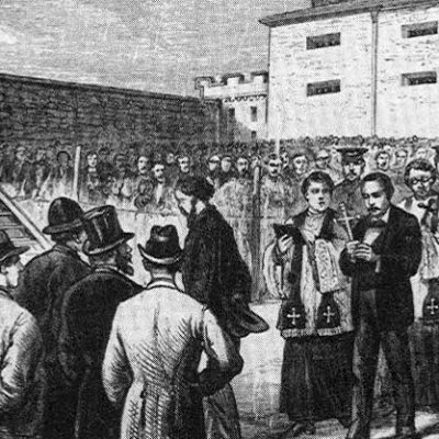 21st June 1877: Ten Irish immigrants hanged for murder, having been accused of membership of the Molly Maguires secret society