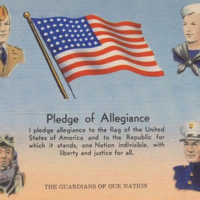 22nd June 1942: The words of the Pledge of Allegiance formally adopted by Congress