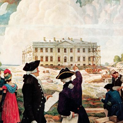 13th October 1792: Cornerstone of the White House laid in Washington, D.C.
