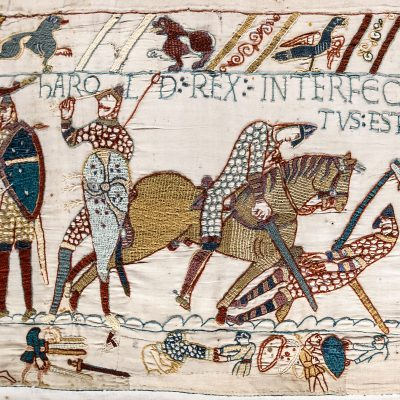 14th October 1066: The Battle of Hastings fought between Duke William II of Normandy and the Anglo-Saxon king Harold Godwinson