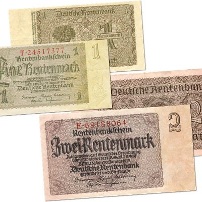 15th October 1923: Rentenmark introduced in Weimar Germany in an attempt to stop the hyperinflation crisis