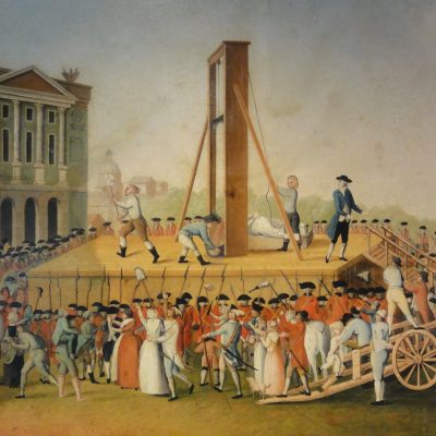16th October 1793: Marie Antoinette executed by guillotine in the Place de la Revolution in Paris