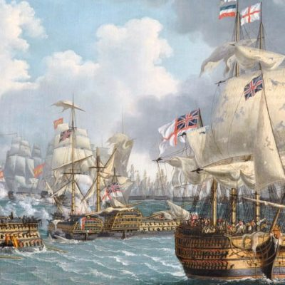21st October 1805: The Battle of Trafalgar sees the British Navy under the command of Nelson defeat the combined fleets of France and Spain